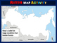 RUSSIA Map Activity - fun, engaging, follow-along 20-slide PPT
