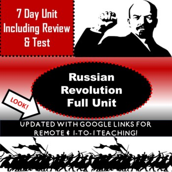 RUSSIAN REVOLUTION UNIT - 7 DAYS INCLUDING TEST