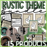 RUSTIC Bundle! Classroom Management Tools, Community Tools, and Morning Messaage