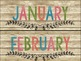 RUSTIC FARMHOUSE SHIPLAP CALENDAR SET