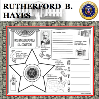 RUTHERFORD B. HAYES POSTER U.S. President Research Project Biography