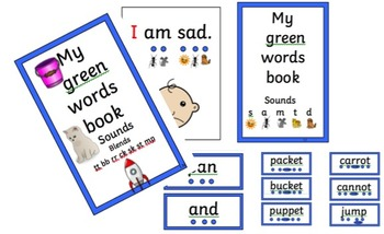RWI set 1 Decodable 10 booklets covering initial sounds and blends PHONICS