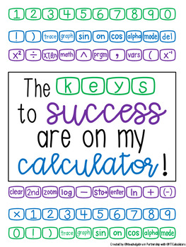 RY Fonts - RY TI Calculator Font and Poster - FREEBIE!