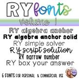RY Fonts - Volume 1