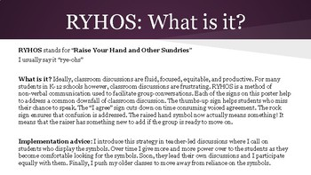 RYHOS: a classroom discussion strategy