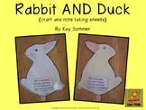 Rabbit AND Duck {craft and note taking sheets} FREE