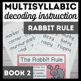 Rabbit Rule Book 2-Advanced Multisyllabic Decoding Strategies