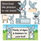 Rabbit Clip Art with Signs - Easter Bunny Clip Art