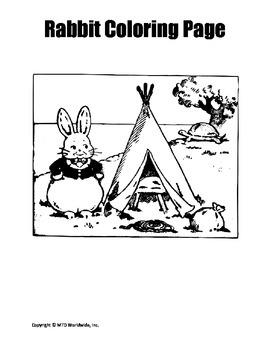 Rabbit Coloring Page Bundle