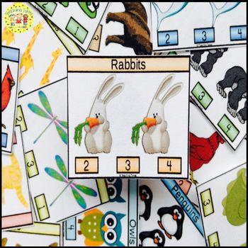 Rabbits Clip Task Cards