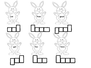Rabbit First Grade Sight Words