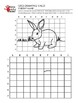 Rabbit Grid Drawing Worksheet for Middle/High Grades