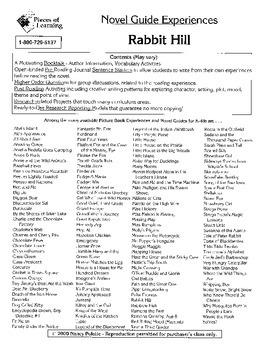 Rabbit Hill Literature Guide