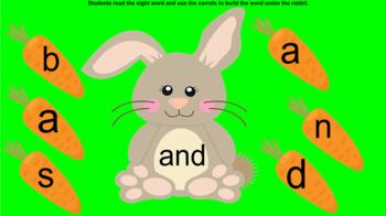 Rabbit Kindergarten Sight Words Smartboard