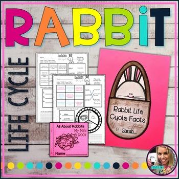 Rabbit Life Cycle Worksheet and Mini Book