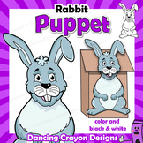 Puppet Rabbit Craft Activity | Printable Paper Bag Puppet Template