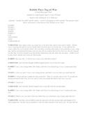 Rabbit Plays Tug of War: script from a Creek/Muscogee Tribe tale