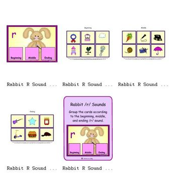 Rabbit R Sounds (Beginning, Middle and Ending /r/ Sound)