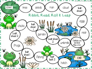 Easter Spring Board Games (Rabbit Hop and Ribbit Leap)