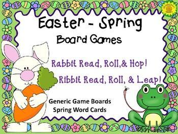 Rabbit Read, Roll, Hop Game