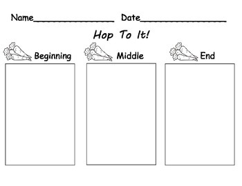 Rabbit/Bunny Theme Reading Comprehension Worksheet