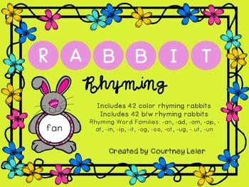 Rabbit Rhyming - a CVC matching activity