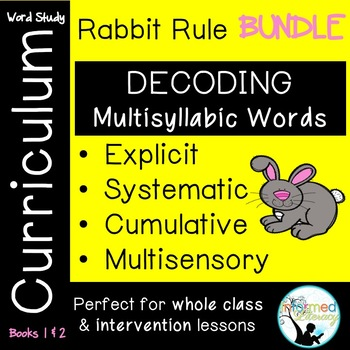 Rabbit Rule Bundle-Books 1 and 2-Advanced Multisyllabic Decoding Strategies