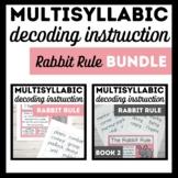 Rabbit Rule Bundle-Books 1 and 2-Advanced Multisyllabic Decoding Strategies