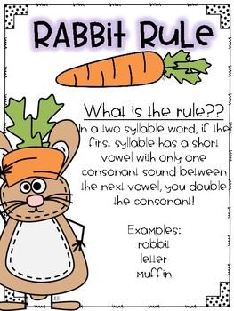 Rabbit Rule-Spelling Unit by Phoebe Nye | Teachers Pay