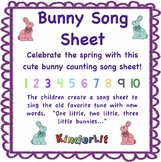 Rabbit Math - Counting Sets Song Sheet