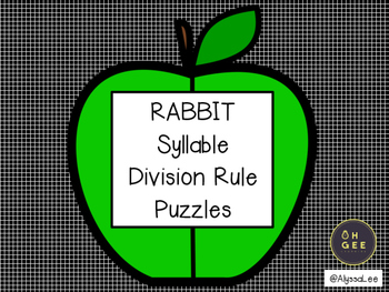 Rabbit Syllable Division Puzzle