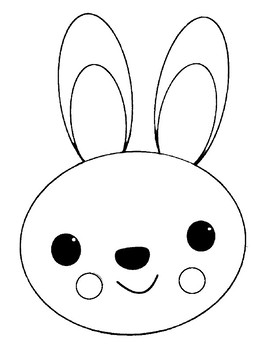 Rabbit Template for Art Project Rabbit Coloring Page ...