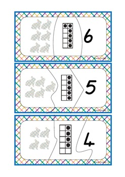 Rabbit Ten Frame Matching Cards