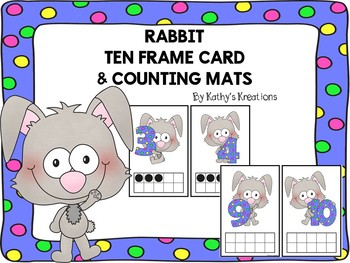Rabbit Ten Frame Mats 0-10