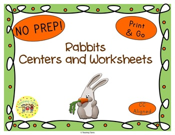 Rabbits Worksheets Activities Games Printables and More
