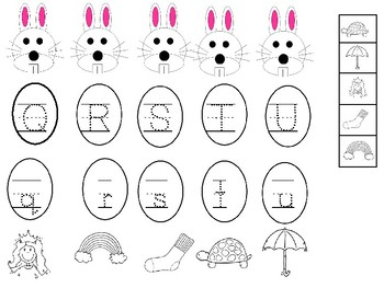 Rabbit Uppercase and Lowercase Letters and Beginning Sounds