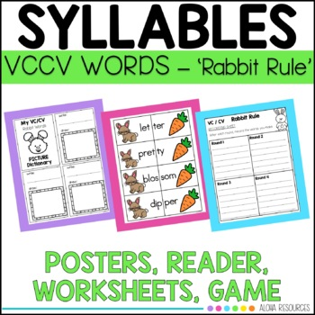 closed syllables rabbit words practice double consonant vccv words. Black Bedroom Furniture Sets. Home Design Ideas
