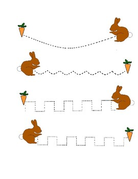 Rabbit and Easter Handwriting Worksheet Freebie