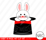 Magic hat rabbit clipart commercial use