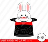 Magic hat rabbit clipart commercial use