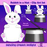 Rabbit in a Hat - Magic Rabbit Clip Art Set