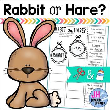 Rabbit or Hare? Cut and Paste Sorting Activity