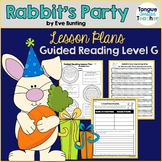 Rabbit's Party by Eve Bunting, Lesson Plan, Guided Reading