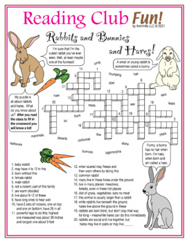 Rabbits, Bunnies, and Hares (Easter) Crossword Puzzle