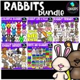 Rabbits Clip Art Mega Bundle {Educlips Clipart}