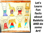 Repeating Pattern Rabbits K-6th Grade Art Project Close Reading Lesson Draw ELA