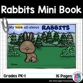 Rabbits Mini Book for Early Readers - Bunny Mini Book