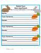 Rabbits!  Non fiction selection with math and literacy act