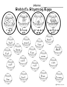 Rabbit's Rhyming Eggs