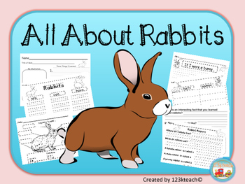 Rabbits writing activities graphic organizers diagram by 123kteach rabbits writing activities graphic organizers diagram ccuart Images
